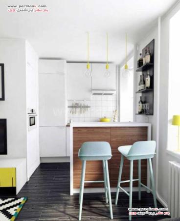 image, مدل کابینت های شیک برای آپارتمان های کوچک