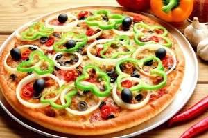 image, آموزش پخت پیتزای سالم با سبزی بدون گوشت