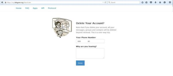 image, کاملترین آموزش عکس به عکس حذف حساب تلگرام