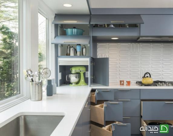 image بهترین نکته های بزرگ نشان دادن آشپزخانه کوچک