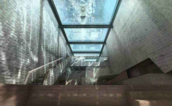image طراحی و نقشه ساخت هتل دو نفره در صخره های دریا