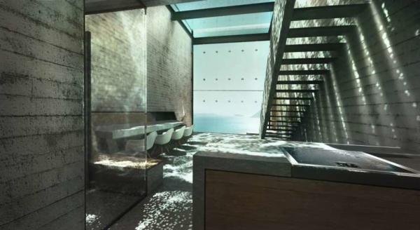 image, طراحی و نقشه ساخت هتل دو نفره در صخره های دریا