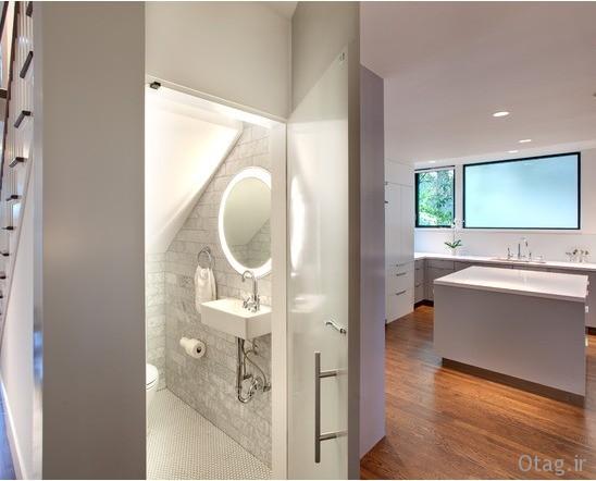 image, ترفندهای بزرگ نشان دادن حمام و دستشویی کوچک