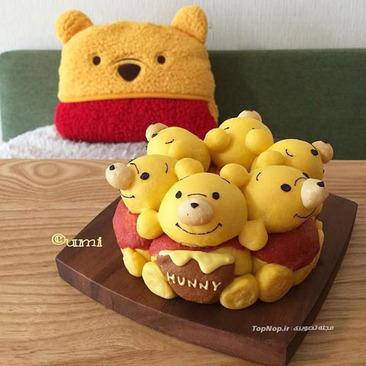 image ایده های جالب شکل های کارتونی نان برای بچه ها