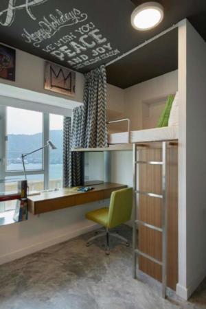 image, دکوراسیون شیک و مدرن خوابگاه کوچک دانشجویی