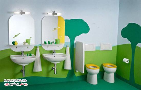 image چطور حمام را برای بچه ها دکور و کودکانه کنیم
