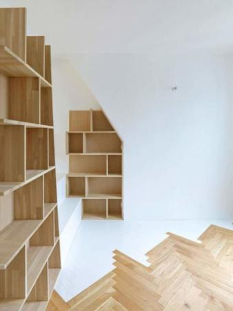 image دکوراسیون دیوارهای خانه با کتابخانه و نحوه چیدن آن