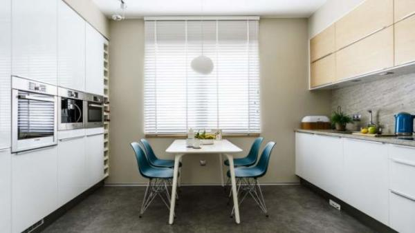image, شیک ترین دکوراسیون آشپزخانه و پذیرایی کوچک در جهان