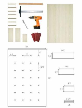 image چطور در خانه طبقه و قفسه چوبی شیک درست کنیم