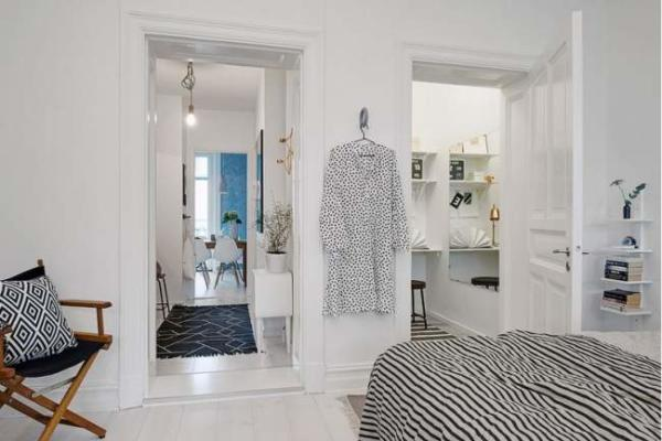 image تصاویر دکوراسیون خلاقانه آپارتمان کوچک برای ۲ نفر
