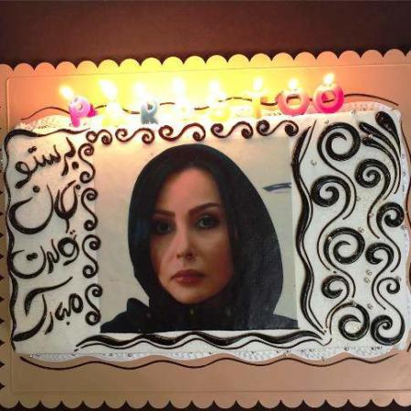 image عکس دیدنی از کیک جشن تولد پرستو صالحی