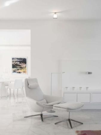 image, تصاویری زیبا از قصر سفید مدرن با دکوراسیون کاملا یک رنگ
