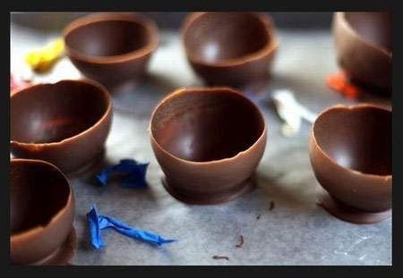 image, آموزش تصویری ساخت ظرف شکلاتی مخصوص دسر و بستنی