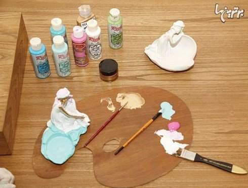 image, آموزش رنگ آمیزی و ساخت ظروف مجسمه ای سفره هفت سین