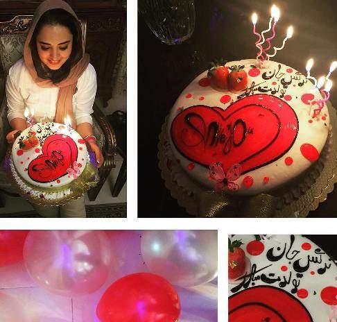 image کیک زیبای جشن تولد نرگس محمدی هنرمند محبوب