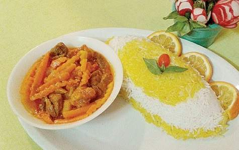 image, طرز پخت خورش مشهدی آلو هویج برای مهمانی ها