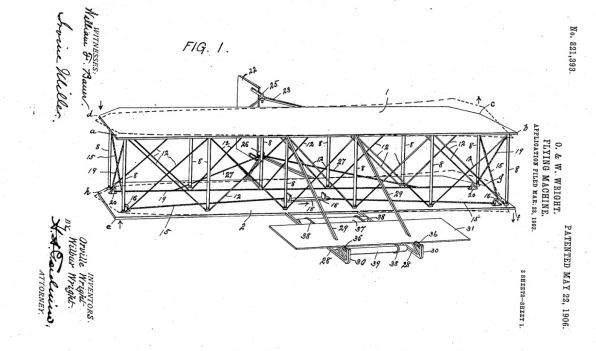 image عکس نقشه اولین هواپیمای ساخته شده توسط انسان
