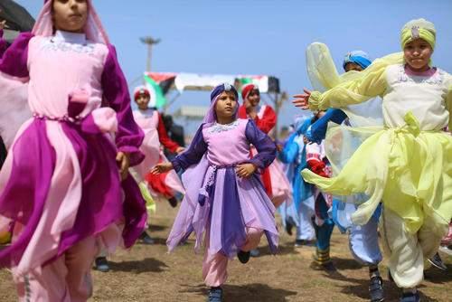 عکس, تصویری زیبا از جشن روز کودکان در غزه