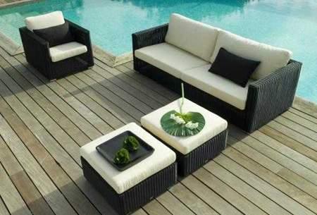 image شیک ترین مدل های میز و صندلی حصیری برای فضای بیرونی