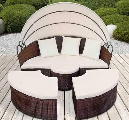 image, شیک ترین مدل های میز و صندلی حصیری برای فضای بیرونی
