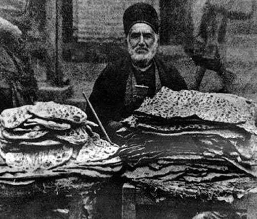 image تاریخچه خواندنی درباره اولین پخت نان سنگک با عکس