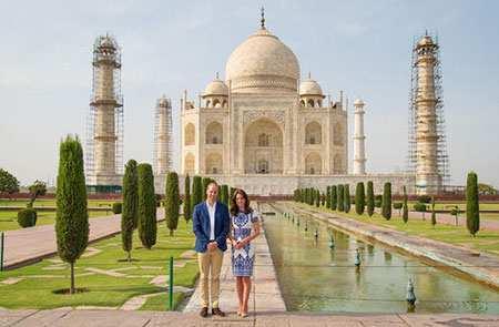 image عکس زیبای پرنس ویلیام و کاترین میدلتون در تاج محل