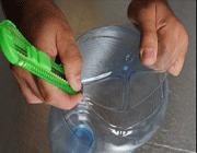 image آموزش تصویری ساخت لوستر با قاشق های پلاستیکی