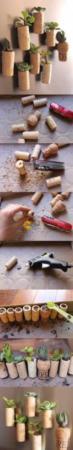image آموزش تصویری ساخت گلدان های کوچک تزیینی با چوب پنبه