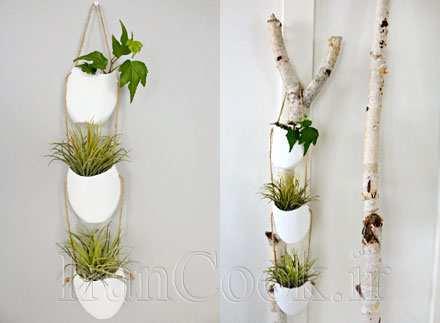 image, آموزش تصویری ساخت گلدان های ساده آویز در خانه