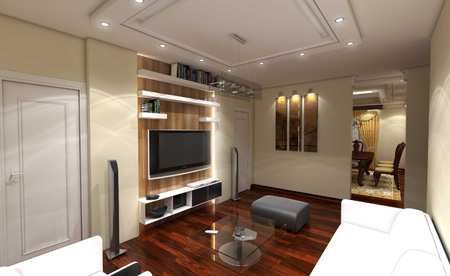 image ایده های طراحی دیوار پشت تلویزیون LCD