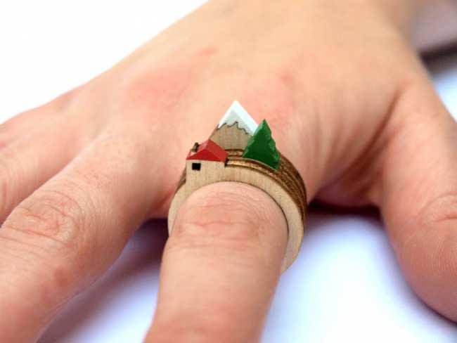 image ایده ها و تصاویر ساخت انگشترهای چوبی خلاقانه