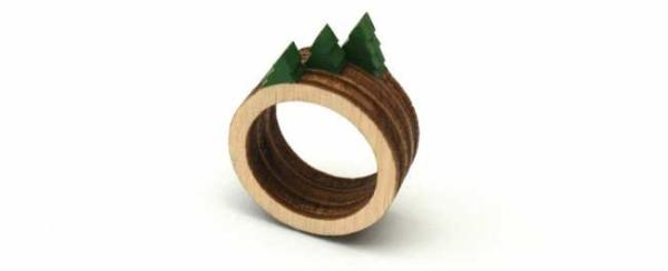 image, ایده ها و تصاویر ساخت انگشترهای چوبی خلاقانه