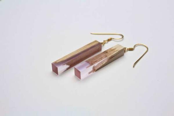 image تصاویر جواهرات زیبا و شیک ساخته شده با تکه چوب