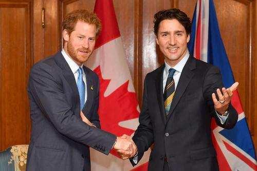 image تصویر پرنس هری و جاستین ترودو نخست وزیر کانادا