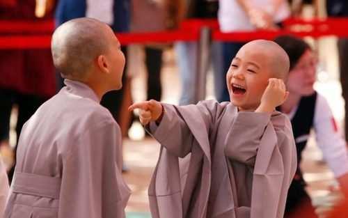image عکس زیبای راهبان خردسال بودایی در معبد سئول