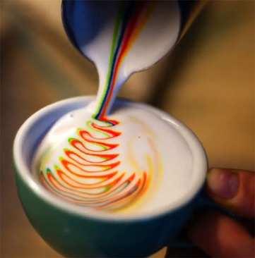 image, ایده های نقاشی زیبا و رنگی روی قهوه