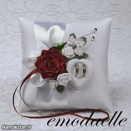 عکس, مدلهای زیبای تزیینات جای قرارگیری حلقه عروس و داماد