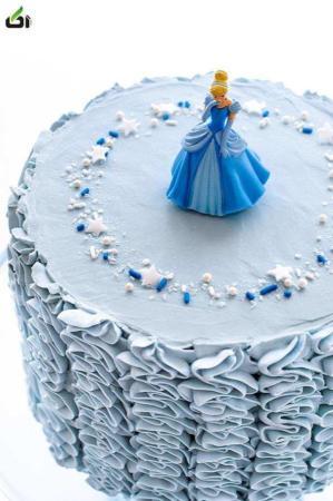 image, آموزش مرحله به مرحله تزیین کیک جشن تولد دخترانه سیندرلا