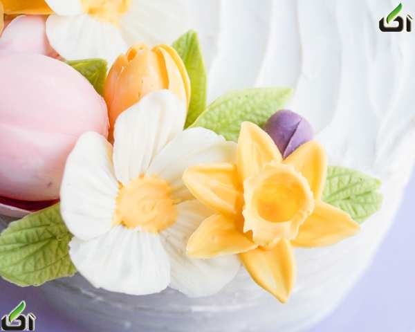 image آموزش تصویری ساخت گل زیبا برای تزیین شیرینی و کیک