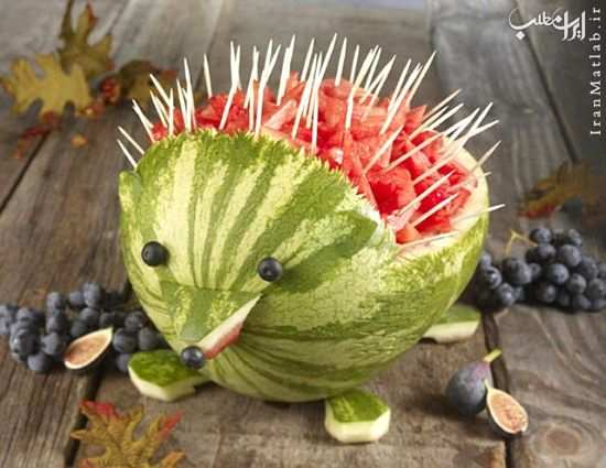 image, ایده های جالب و خلاقانه تزیین غذا و میوه