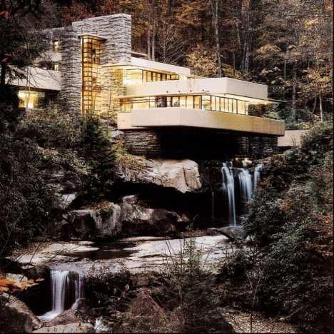 image عکس های زیباترین خانه ساخته شده در طبیعت خانه آبشار