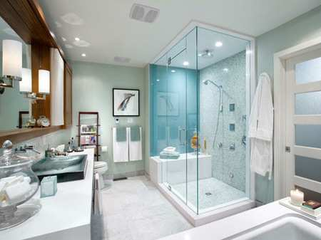 image دکوراسیون شیک برای حمام با توالت فرنگی و مدرن