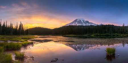 image, عکسی از یک منظره غروب زیبا و رویایی