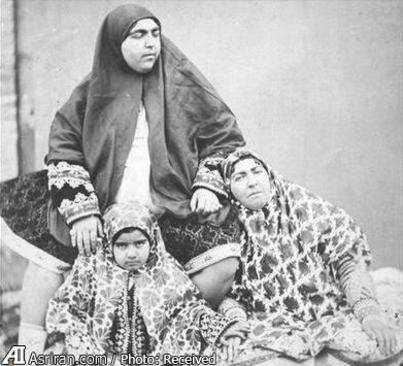 عکس, عکسی زیبا از همسر و دختر و نوه ناصرالدین شاه