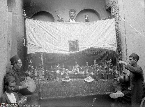 image, تصویر زیبای خیمه شب بازی در عصر قاجار