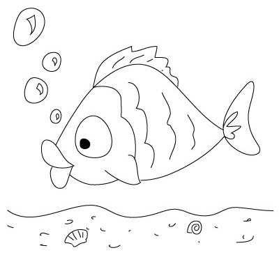image چطور نقاشی یک ماهی بامزه را بکشیم