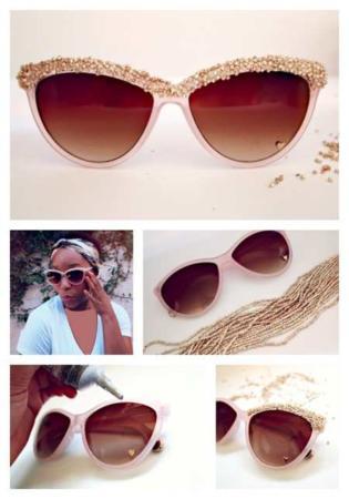image, ایده های جالب تصویری برای تزیین عینک آفتابی دخترانه
