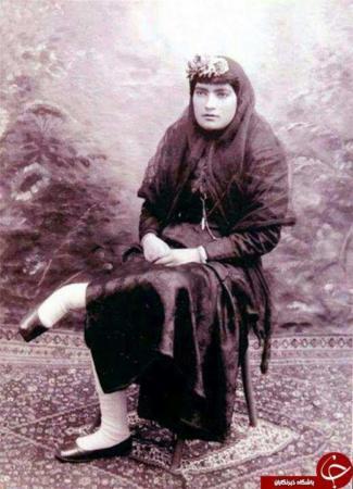 image آیا تا بحال عکس اولین زن روزنامه نگار در ایران را دیده اید