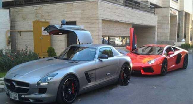 image عکس از ماشین های شیک و مدل بالا در خیابان های تهران