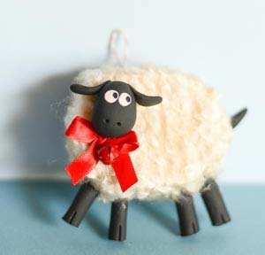 image آموزش عکس به عکس ساخت گوسفند بامزه برای بچه ها